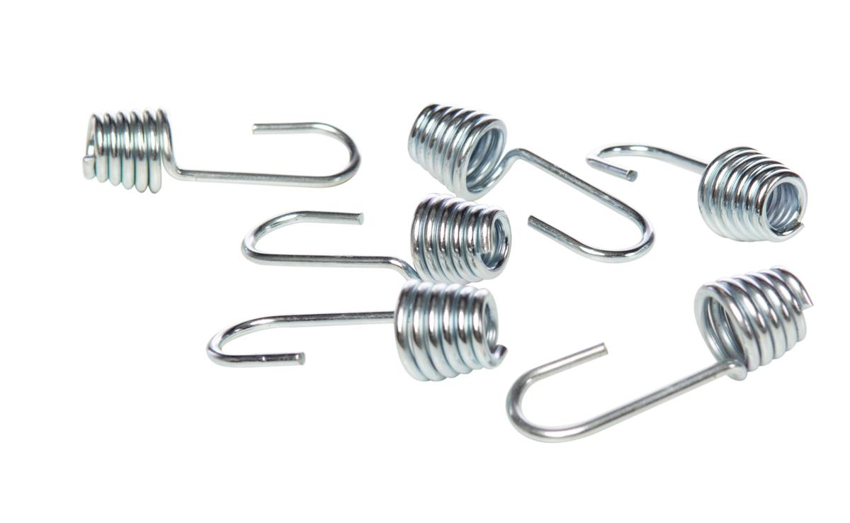 plasticized iron hook for elastic rope 8mm