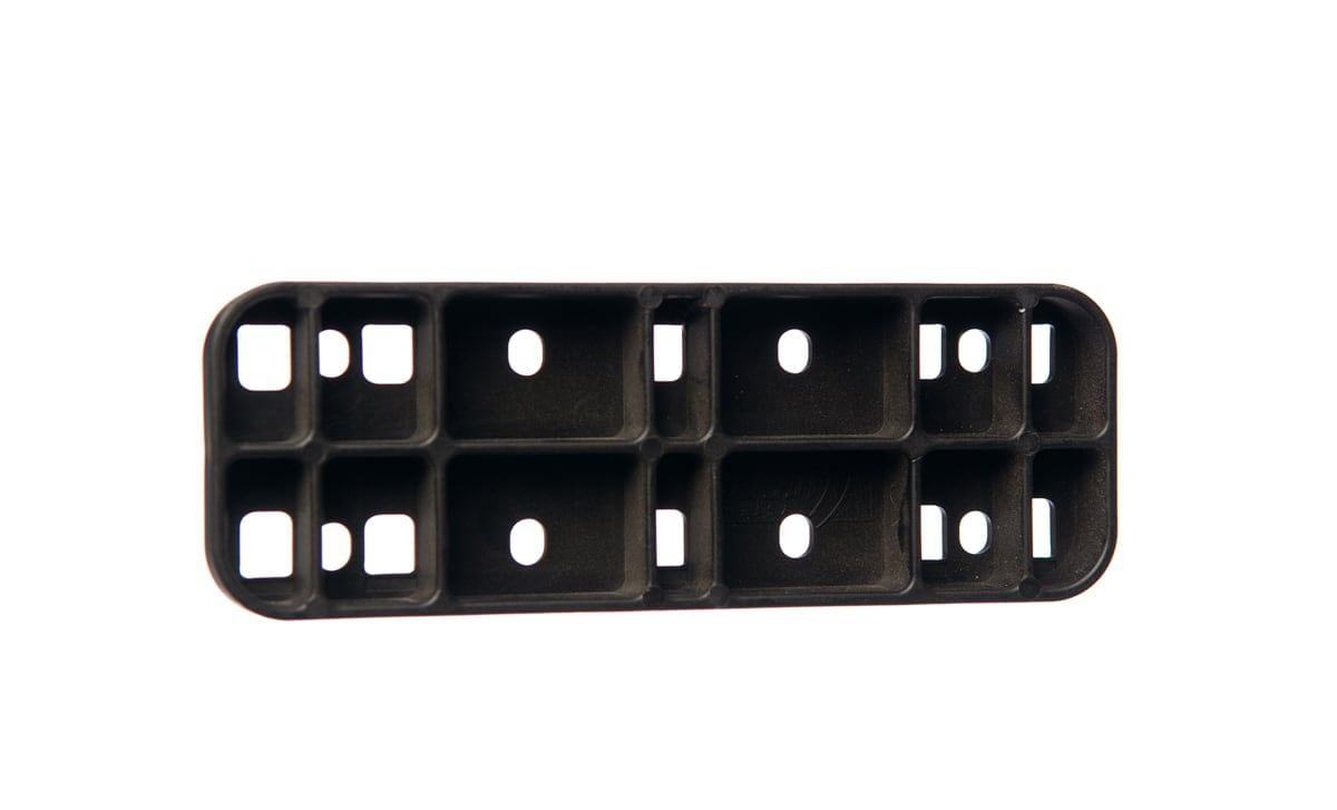 wiesel plaket flat 4part model 16 black