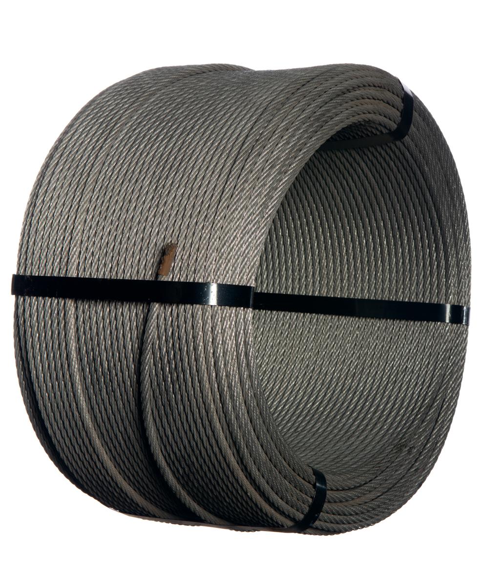 wire rope 8mm 7x7 300m class a zinc coat 145gm